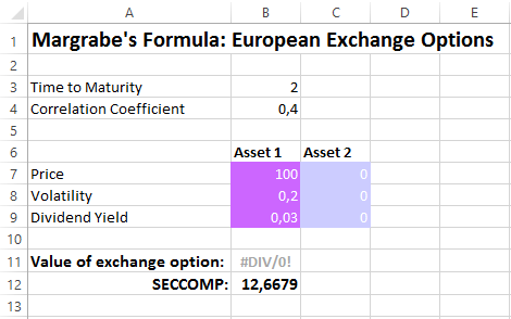 Valuation of European Exchange Options – Calctopia